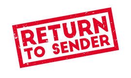 Return To Sender rubber stamp. Grunge design with dust scratches. Effects can be easily removed for a clean, crisp look. Color is easily changed Royalty Free Stock Image
