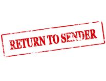 Return to sender. Rubber stamp with text return to sender inside,  illustration Royalty Free Stock Image