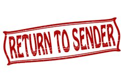 Return to sender. Stamp with text return to sender inside,  illustration Stock Photography