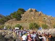 Trip from Samaria gorge Royalty Free Stock Photos