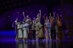 """The return voyage-Dance drama """"The Dream of Maritime Silk Road"""". Dance drama """"The Dream of Maritime Silk Road"""" centers on the plot of two generations of Royalty Free Stock Photography"""