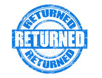 Returned stamp Stock Photography