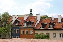 Returnera av den gamla Warszawa Royaltyfri Fotografi
