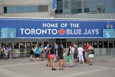 Returnera av Toronto Blue Jaystecken Royaltyfria Foton