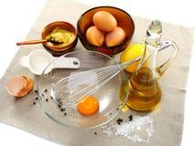returnera mayonnaiseförberedelseprodukter Royaltyfri Fotografi