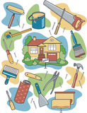 returnera renovering stock illustrationer