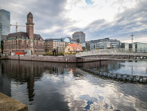 returnerar den traditionella malmo gammala sweden svenska townen Arkivbild