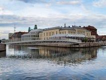 returnerar den traditionella malmo gammala sweden svenska townen Fotografering för Bildbyråer