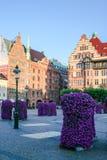 returnerar den traditionella malmo gammala sweden svenska townen Arkivbilder