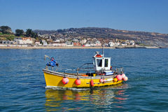 Returning To Harbour ~ Lyme Regis Royalty Free Stock Photos