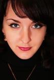 retuscherad kvinna för brunett potrait Arkivfoto