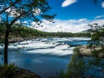 Retuscherad Norge vattenfall Arkivfoton