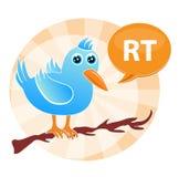 retweet τιτίβισμα διανυσματική απεικόνιση
