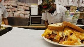 Reuben三明治,卡茨熟食店,纽约 免版税图库摄影