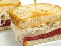 reuben сандвич Стоковое Изображение
