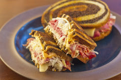 Reuben Chips Pickle Royalty Free Stock Photo