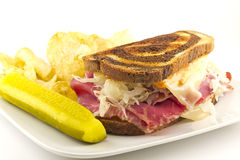 Reuben Chips Pickle Royalty Free Stock Image
