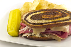 Reuben Chips Pickle Stock Photography