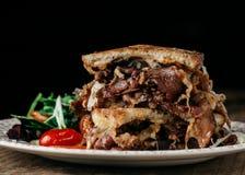 reuben den traditionella smörgåsen Arkivbild