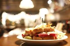 Reuben sandwich Royalty Free Stock Photography