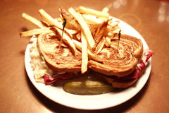 Reuben sandwich Royalty Free Stock Photos
