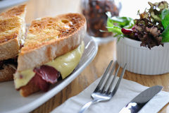 Reuben sandwich Royalty Free Stock Photos