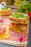 Reuben sandwich with cabbage, beef and spicy dressing Royalty Free Stock Photo