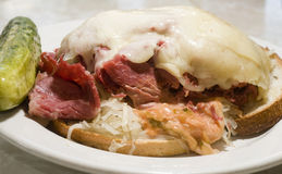 Reuben sandwich close up Royalty Free Stock Photography