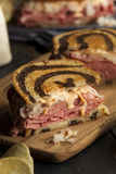 Reuben Sandwich hecho en casa Imagen de archivo libre de regalías