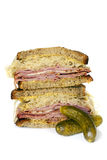 Reuben Sandwich Isolated on White Royalty Free Stock Photo
