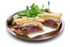 Reuben sandwich, pastrami sandwich Royalty Free Stock Images