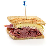 Reuben sandwich, pastrami sandwich Royalty Free Stock Photos