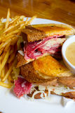 Reuben Sandwich at Pub Stock Photo