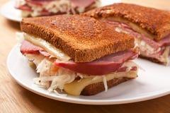 Reuben Sandwiches Arkivbild