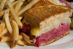 Reuben Sandwitch Close Up Stock Images