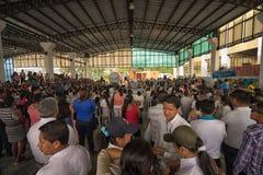 Reunião ambiental em Lago Agrio Equador fotos de stock royalty free