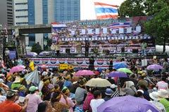 Reunião antigovernamental do grupo do exército de pessoa em Banguecoque Foto de Stock Royalty Free