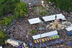 Reunião antigovernamental do grupo do exército de pessoa em Banguecoque Imagem de Stock