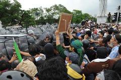 Reunião antigovernamental em Banguecoque Fotografia de Stock