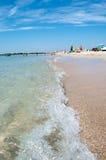 Reunião da areia e do mar Imagem de Stock Royalty Free