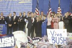 Reunião da campanha de Bush/Cheney Foto de Stock Royalty Free