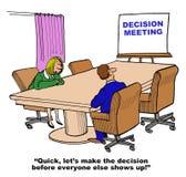 Reunião da decisão ilustração royalty free