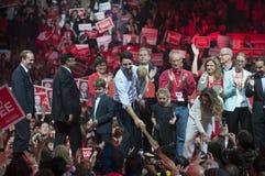 Reunião da eleição de Justin Trudeau fotos de stock