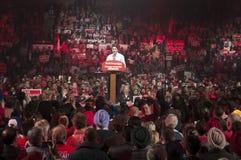 Reunião da eleição de Justin Trudeau imagem de stock royalty free