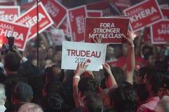Reunião da eleição de Justin Trudeau imagens de stock