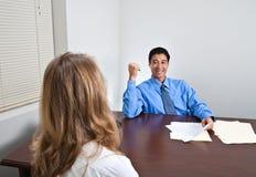 Reunião da entrevista de trabalho Imagens de Stock Royalty Free