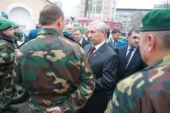 Reunião da liderança militar Imagem de Stock