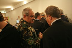 Reunião da liderança militar Imagem de Stock Royalty Free