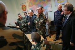 Reunião da liderança militar Imagens de Stock Royalty Free