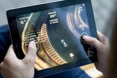 Reunião da morte do jogo em Apple Ipad2 Imagem de Stock Royalty Free